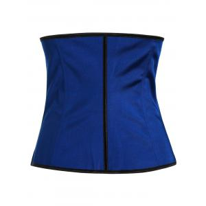 Steel Boned Underbust Corset - Blue - 2xl
