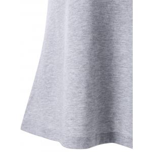 Ruched Ruffles V Neck Tank Top - Gris Clair M