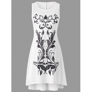 Tribal Print Sleeveless Tank Shift Dress