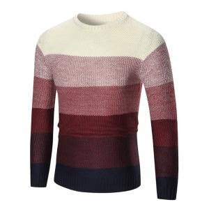 Ombre Crew Neck Pullover Sweater