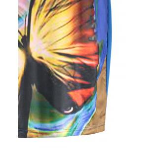 Butterfly Printed Plus Size Casual T-shirt Dress -