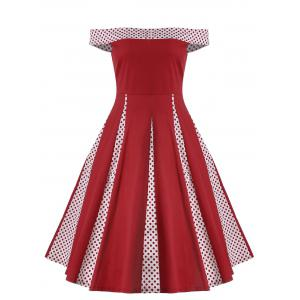 Plus Size Off The Shoulder Vintage Cocktail Dress