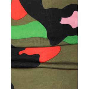 Colorful Short Sleeve Camouflage Tee - GREEN L