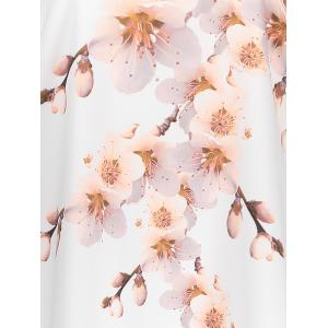 Peach Blossom Plus Size Casual Modest Dress with Pockets - PINK 6XL
