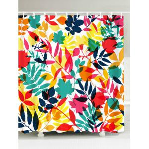 Tropical Leaf Printed Waterproof Shower Curtain - Colorful - W59 Inch * L71 Inch