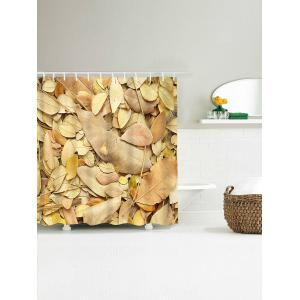 Bathroom Product Fallen Leaves Print Waterproof Shower Curtain -