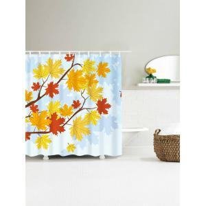Bathroom Product Maple Leaf Print Waterproof Shower Curtain - COLORFUL W59 INCH * L71 INCH