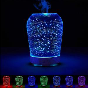 3D Humidifier Fireworks Color Change Night Light
