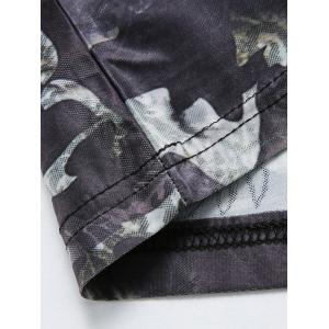 Short Sleeve Tiger Print Camouflage Tee - COLORMIX M