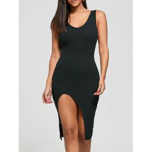 Cut Out Bodycon Ribbed Tank Dress