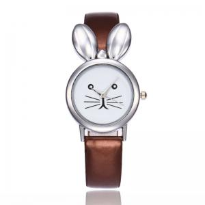 Rabbit Ears Faux Leather Strap Watch