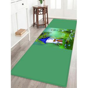 Cartoon House Pattern Anti-skid Water Absorption Area Rug