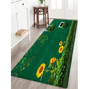 Sunflower Grass Pattern Anti-skid Water Absorption Area Rug