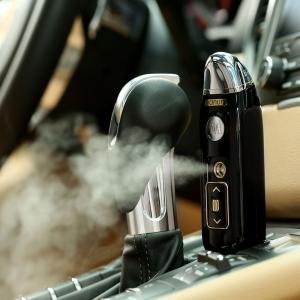 USB Moisturizing Mist Mini Nebulizer Steamer for Car - Black - Size S