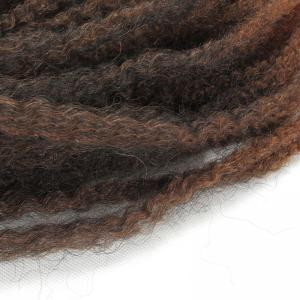 Fluffy Long Afro Kinky Curly Colormix Synthetic Hair Weft - Brun Foncé