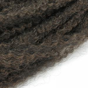Fluffy Long Afro Kinky Curly Colormix Synthetic Hair Weft - GRADUAL BROWN