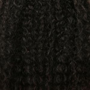 Medium Fluffy Afro Kinky Curly Synthetic Hair Weft - BLACK