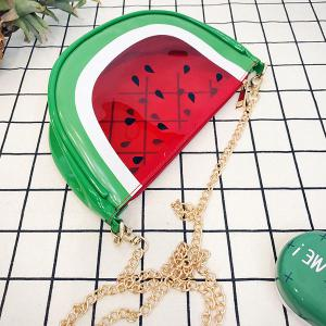 Transparent Fruit Crossbody Bag - RED
