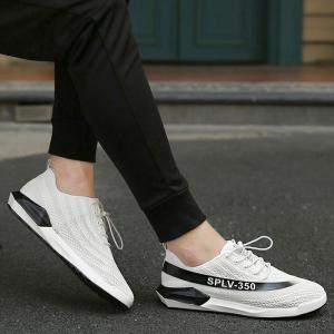 Low-Top Mesh Color Block Sneakers -
