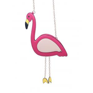 Flamingo Shaped Chain Crossbody Bag - Rose Red - Xl
