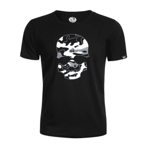 Camo Skull Print Graphic Men T-shirt - BLACK L