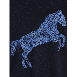Animal Horse Print Short Sleeve T-shirt -