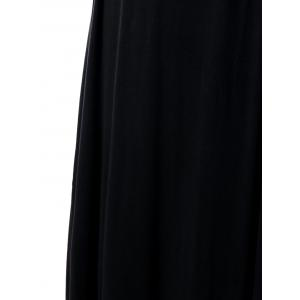 Empire Waist Plus Size Maxi Sweetheart Dress - BLACK 5XL