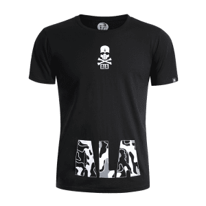 Skull Print Graphic T Shirt -