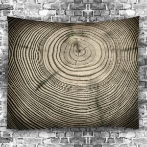 Tree Growth Ring Bedspread Wall Art Tapestry -