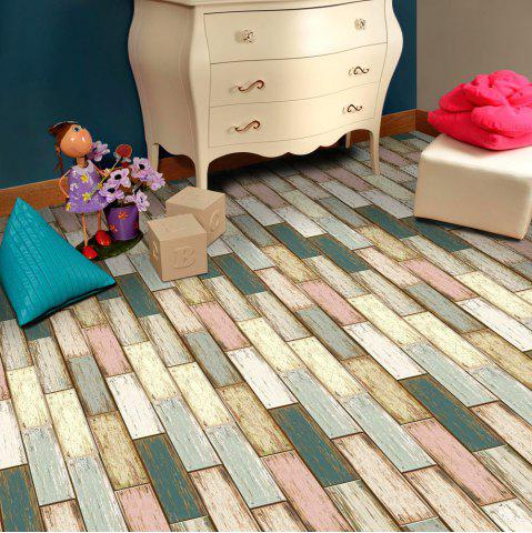 Colorful home decor wood stone self adhesive floor sticker for Parquet vinilo adhesivo