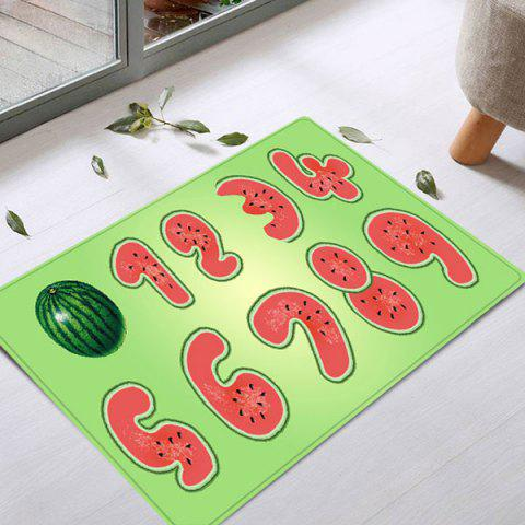 Buy Watermelon Number Pattern Anti-skid Water Absorption Area Rug - W16 INCH * L24 INCH COLORMIX Mobile