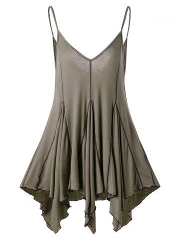 Affordable Handkerchief Cut Out Tank Top