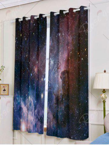 Trendy 2 Panels Universe Space Blackout Window Curtains - W53 INCH * L63 INCH DEEP BLUE Mobile