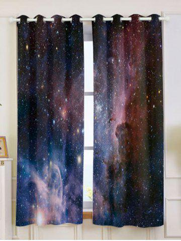 New 2 Panels Universe Space Blackout Window Curtains
