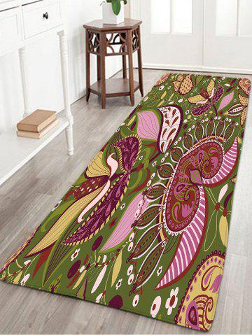 Hot Bohemian Floral Flannel Skidproof Bath Rug - W16 INCH * L47 INCH COLORMIX Mobile