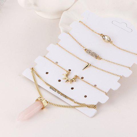 Buy Bracelet and Natural Stone Necklace Set - GOLDEN  Mobile