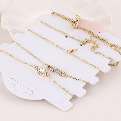 Best Bracelet and Natural Stone Necklace Set - GOLDEN  Mobile