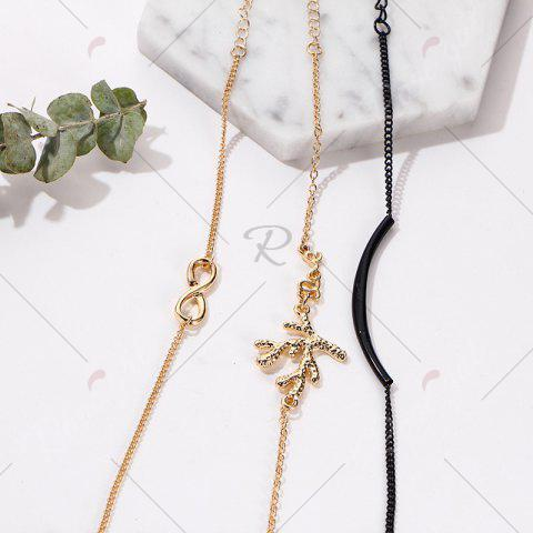 New Rhinestone Infinite Tree Anklet Set - COLORMIX  Mobile