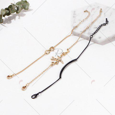 Affordable Rhinestone Infinite Tree Anklet Set - COLORMIX  Mobile