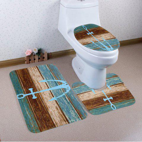 Bathroom Decor 3Pcs/Set Vintage Anchor Mats - Colormix