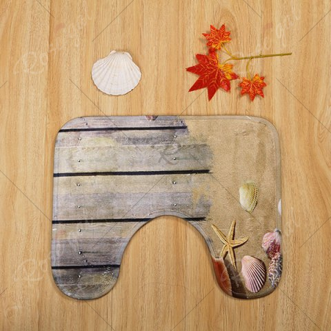 Buy Beach Shell 3PCS Toilet Lid Cover and Floor Mat Set - GREYISH BROWN  Mobile