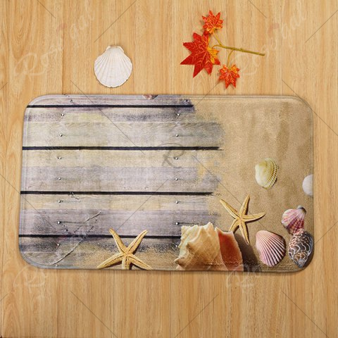 Discount Beach Shell 3PCS Toilet Lid Cover and Floor Mat Set - GREYISH BROWN  Mobile