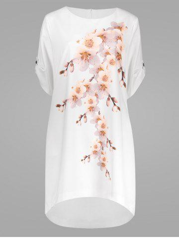 Cheap Peach Blossom Plus Size Casual Modest Dress with Pockets PINK 6XL