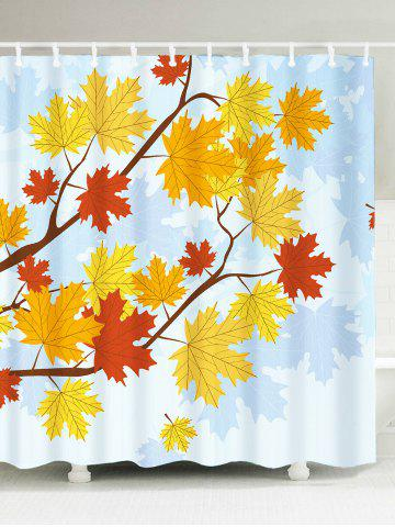 Shop Bathroom Product Maple Leaf Print Waterproof Shower Curtain COLORFUL W59 INCH * L71 INCH