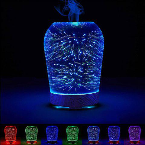 3D Humidifier Fireworks Color Change Night Light - Colorful - Eu Plug