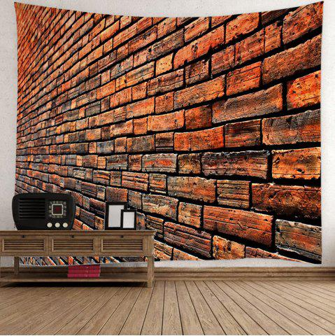 Shops Wall Hanging Vintage Brick Tapestry For Home Decor - W59 INCH * L51 INCH BROWN Mobile