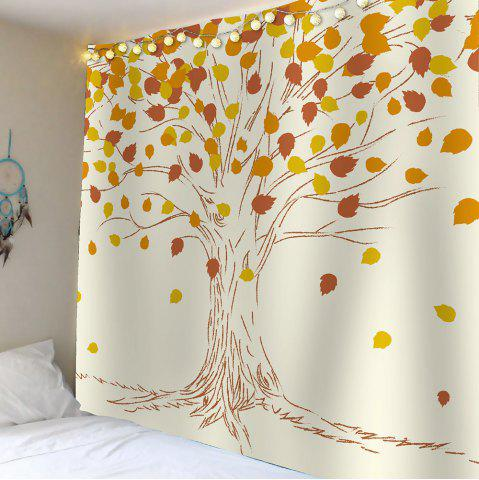 Affordable Home Decor Maple Waterproof Wall Hanging Tapestry - W59 INCH * L51 INCH KHAKI Mobile