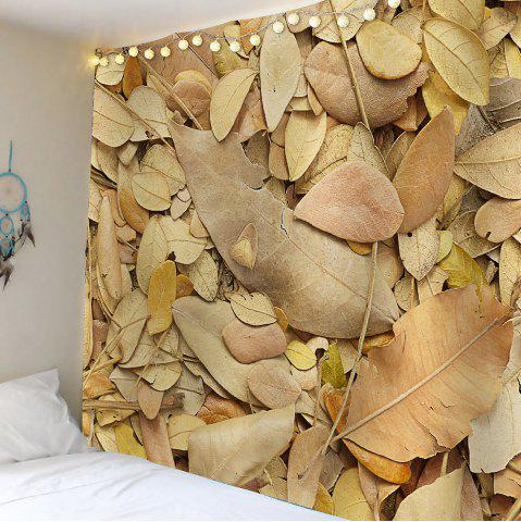 Shop Waterproof Fallen Leaves Wall Hanging Tapestry - W59 INCH * L51 INCH KHAKI Mobile