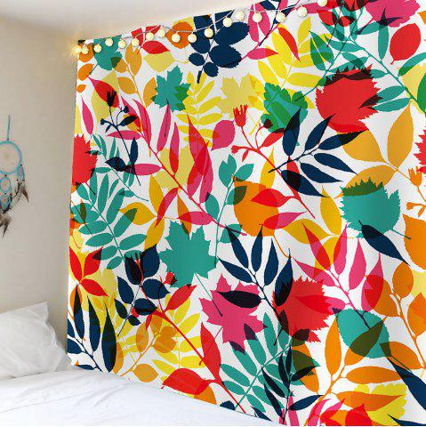 Store Tropical Leaves Waterproof Wall HangingTapestry - W59 INCH * L51 INCH COLORFUL Mobile