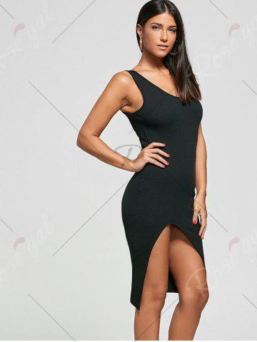 Shops Cut Out Bodycon Ribbed Tank Dress - ONE SIZE BLACK Mobile